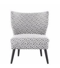 geometrisch gemusterter Stuhl in dunkelgrau und naturfarben