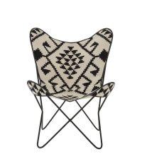 lässiger Butterfly-Chair mit Ethno-Muster