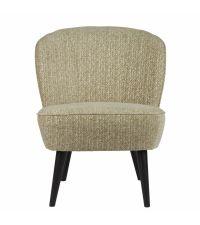 stilvoller Retro-Sessel mit konischen Füßen, grün