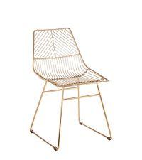 trendiger Sessel aus goldenem, geometrischem Metallrahmen