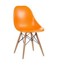 Sessel aus Kunststoff mit Stativfuß orange