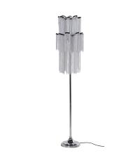 Stehlampe aus Chrom mit Metallketten