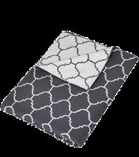 dünne gemusterte Wendedecke in elegantem Grau und Weiß