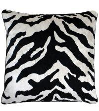 Kissenhülle mit Zebra-Print-Muster in creme und schwarz