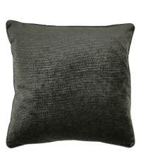 elegante Kissenhülle aus Samt mit strukturierter Oberfläche, schwarz