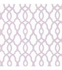 Tapete mit kleinem Trellis-Muster, Vliestapete mit marokkanischem Muster, lila