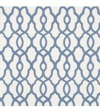 Tapete mit kleinem Trellis-Muster, Vliestapete mit marokkanischem Muster, blau