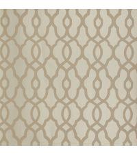 Tapete mit kleinem Trellis-Muster, Vliestapete mit marokkanischem Muster, taupe