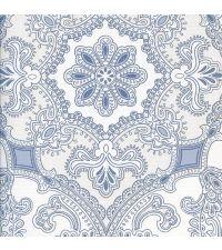 Tapete mit orientalischem Muster, reflektierende Vliestapete blau