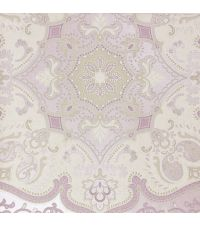 Tapete mit orientalischem Muster, reflektierende Vliestapete lila