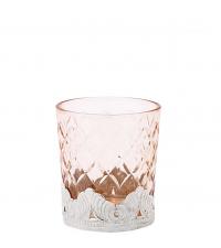 Lisbeth Dahl Teelichtglas puder mit Harlekin-Muster