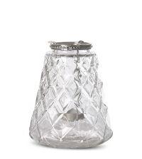 transparentes kegel-förmiges Teelichtglas mit Teelicht-Einsatz