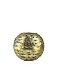 kugelförmiges Windlicht mit Lochmuster, gold