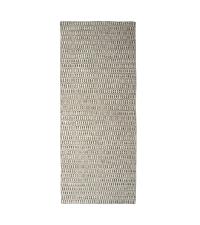 länglicher Teppich aus PET-Garn, Läufer beige