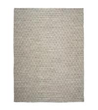 großer Teppich aus PET-Garn mit Musterung, beige