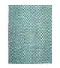 großer Teppich aus PET-Garn mit Musterung, türkis