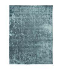 edler, weicher Velvet-Teppich mit glänzender Oberfläche, türkis-blau