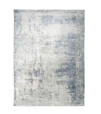 weicher handgefertigter Teppich mit azurblauem Muster