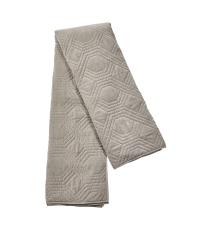 riesengroße Bettdecke aus Baumwolle mit geometrischer Steppung, taupe
