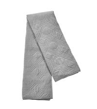 riesengroße Bettdecke aus Baumwolle mit geometrischer Steppung, grau