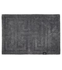 dunkelgraue Fußmatte aus PET-Garn mit zartem Muster