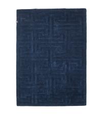 Teppich mit zartem geometrischem Muster, dunkelblau