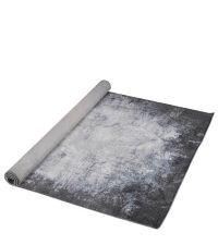 länglicher Teppich, grau mit Farbverlauf, gemustert, eckig