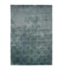 samtiger Teppich in Mintgrün mit geometrischer Musterung