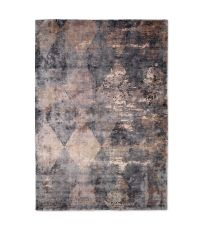 Teppich mit Harlequin-Muster in glänzendem Bronze, grau