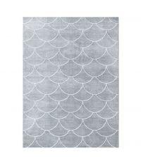 weicher Kunstfaser-Teppich mit Tropfen-Muster, grau
