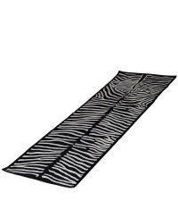 schwarzer Teppichläufer mit Zebra-Muster
