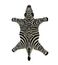 Teppich aus Wolle in Zebra-Form, schwarz/weiß