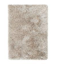Hochflorteppich mit unterschiedlich hohen, schimmernden & matten Fasern, handgetuftet taupe