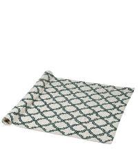 Teppich mit geometrischem Trellis-Muster, elfenbein & dunkelgrün