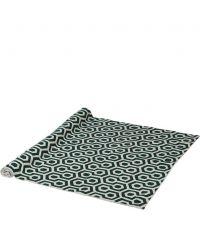 Teppich mit geometrischem Muster, elfenbein & dunkelgrün