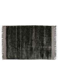 weicher Teppich mit breitem Fransenrand, anthrazit