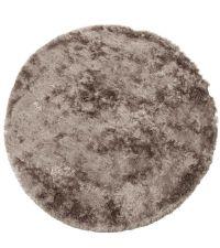 großer, runder Hochfloor-Teppich, taupe