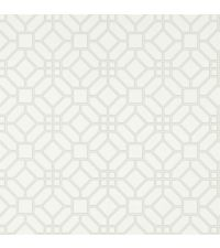 elegante Papiertapete mit Wabenmuster, Trellis-Tapete weiß & silber