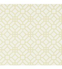 elegante Papiertapete mit Wabenmuster, Trellis-Tapete gold