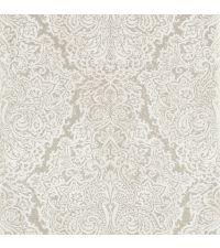 Tapete im Barock-Style mit Damast-Muster, elegante Vliestapete metallisch silber