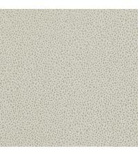 cremefarbene Vliestapete mit zinnfarbenem Mini-Leoparden-Print im Metallic-Look