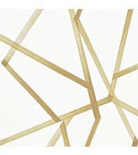 Statement-Tapete mit großflächigem abstrakten Muster in Gold, Vliestapete