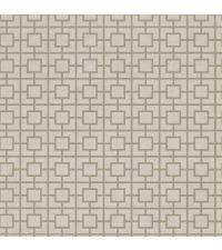 taupefarbene Tapete mit quadratischem, geometrischen Muster, Vliestapete taupe