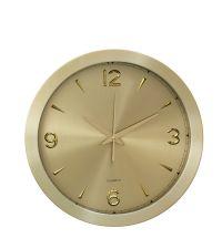 runde Wanduhr mit metallischem Effekt in gold, groß