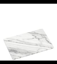 kleines Schneidebrett oder Untersetzer aus massivem Marmor Marmorplatte weiß