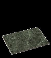 kleines Schneidebrett oder Untersetzer aus massivem Marmor Marmorplatte dunkelgrün