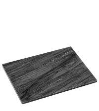 Schneidebrett aus massivem Marmor, schwarz