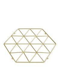 praktischer Untersetzer für Töpfe aus geometrisch geformtem Metall, gold