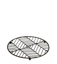 trendiger Topf-Untersetzer aus schwarzem Metall mit geometrischem Muster