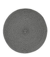 rundes gewebtes Tischset, Untersetzer mit metallischem Effekt, antrazith